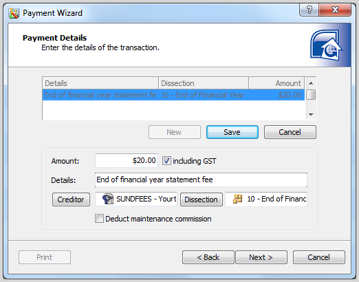 Image 3 EOFY Tip Using the Payment Wizard to Charge an EOFYS Fee