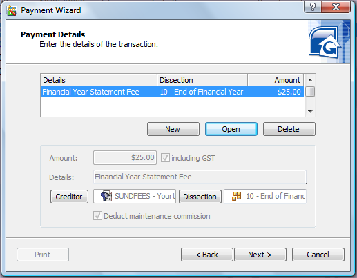 Image 4 EOFY Tip Using the Payment Wizard to Charge an EOFYS Fee