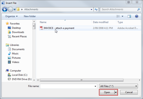 Image 18 Attaching Invoices and Documents to Email with Owner Statements