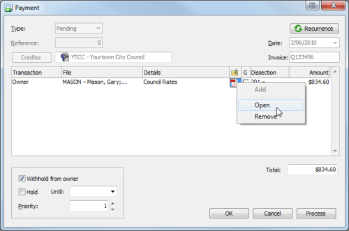 Image 6 Attaching Invoices and Documents to Email with Owner Statements