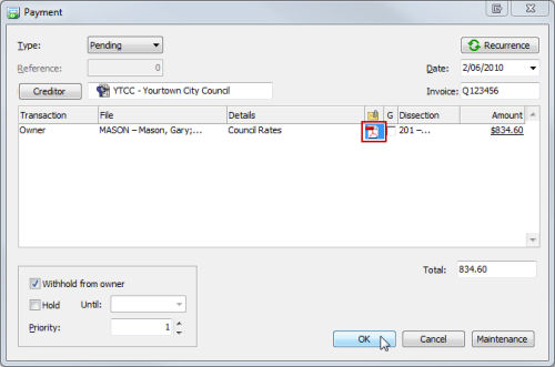 Image 3 Attaching Invoices and Documents to Email with Owner Statements
